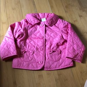 Gymboree quilted jacket pink 12-24M